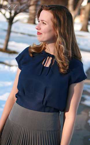 """Snowy Midnight"" Sencha blouse"
