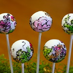Colorful Watercolor Cake Pops