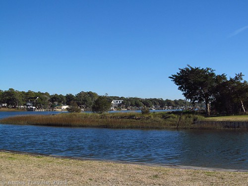 The canal at Sanddollar Park, Holden Beach, North Carolina