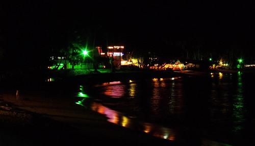 city beach night view
