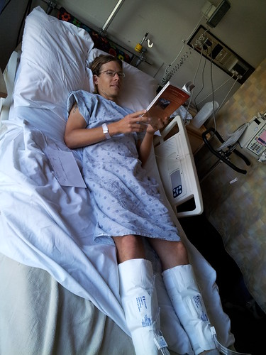Romy in Hospital Room