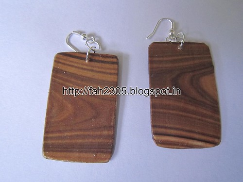 Handmade Jewelry - Card Paper Earrings (19) by fah2305