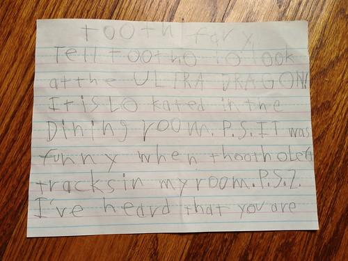 E's letter, page 1