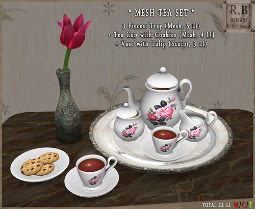 *RnB* Mesh Tea Set - Pink Roses