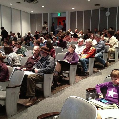 Crowd of 80+ at the Colorado bike lane meeting. #fig4all #bikela