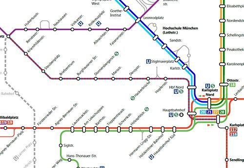 Netzplanausschnitt Bauarbeiten Ostern 2013