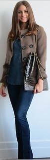Olivia Palermo Flared Jeans Celebrity Style Women's Fashion