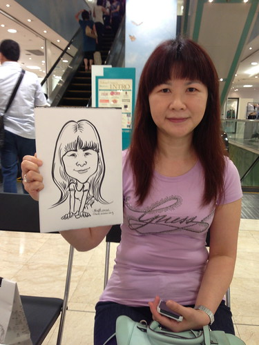 caricature live sketching for Takashimaya Good Friday Special - 6