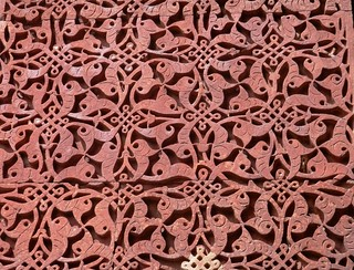 Carved stone at Quwwat-ul-Islam Mosque
