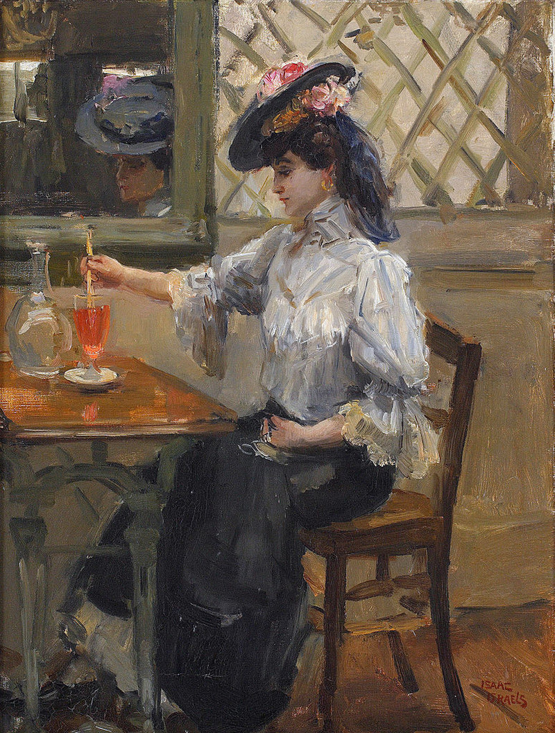 In the Cafe by Isaac Israels - circa 1905