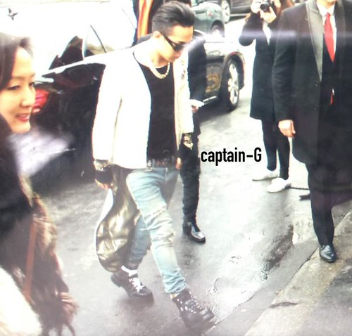 G-Dragon at Chanel Paris 2015-01-27 - 1