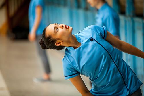 Dancer Alexandra de la Bastide on set of Dialogues with Giselle. Photo: © Thomas Stroppel