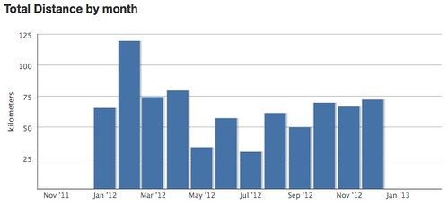 RunKeeper Fitness Report 2012 (Month)