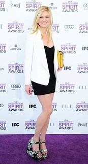 Kirsten Dunst White Blazer Celebrity Style Women's Fashion