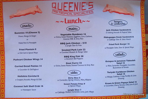 Queenies - Menu