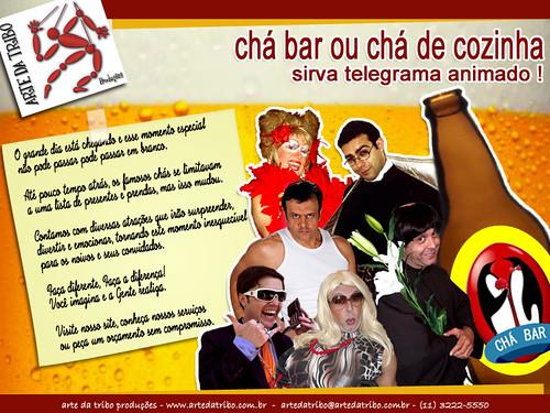 Arte daTribo - Telegrama Animado no CHÁ BAR CHÁ DE COZINHA CHÁ DE LINGERIE - 2013 by Arte da Tribo Produções