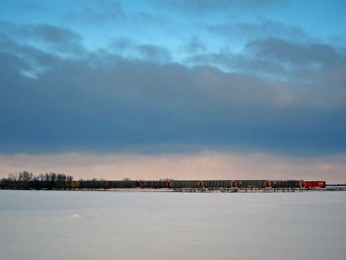 winter canada cn landscape december main rail line manitoba 2012 12月 カナダ 師走 shiwasu 十二月 じゅうにがつ jūnigatsu priestsrun 平成24年 マニトバ州