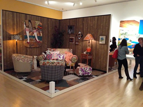 Room installation @ Mickalene Thomas show, Brooklyn Museum