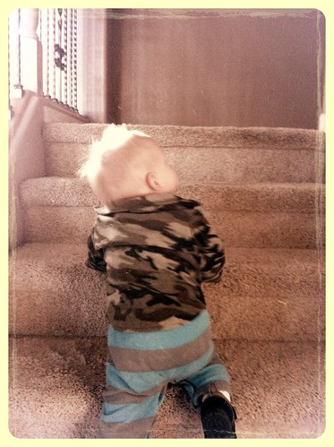 Climbing stairs! 12Jan13