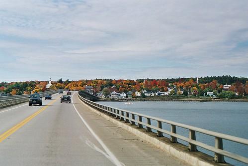 bridge vacation river town maine scenic newengland wicasset