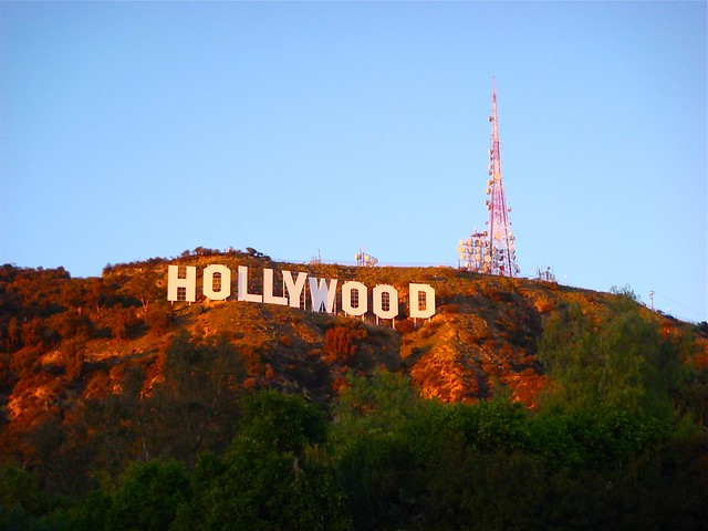 Hollywood Hills Sunset The Hollywood Sign in ...