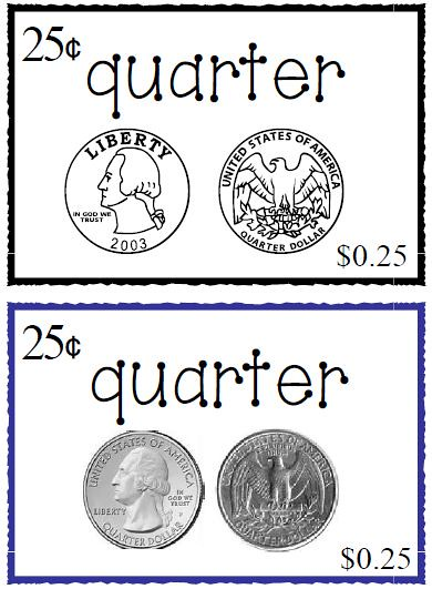coin recognition worksheets