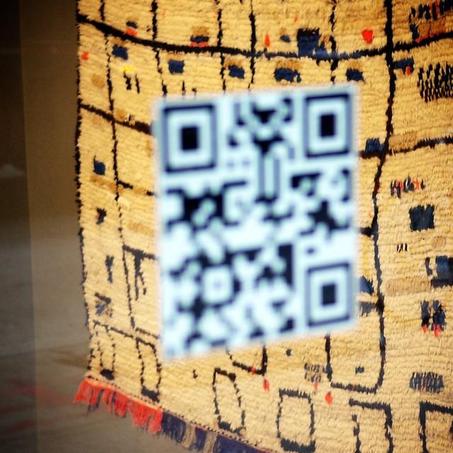 QR code vs the rug #walkingtoworktoday