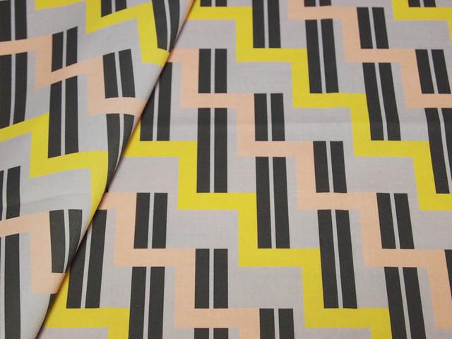 urban stairs - yellow, almond, black, gray