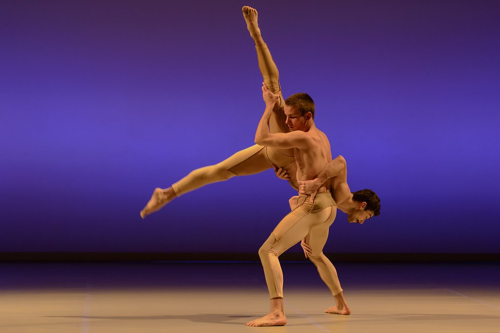 BalletBoyz the Talent 2013 Flavien Esmieu carries Andrea Carrucciu in Liam Scarlett's 'Serpent' photo by Panos 1 13 (3)
