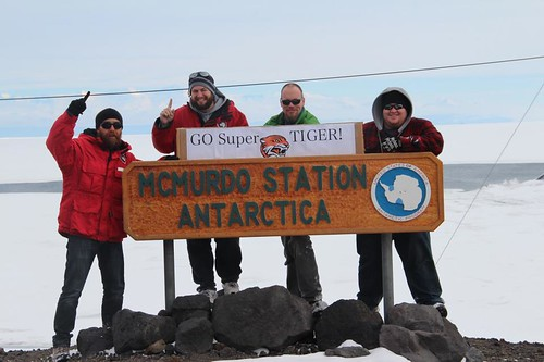 Members of the Super-TIGER team in Antarctica