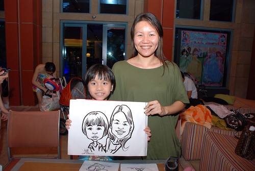 caricature live sketching for Mark Lee's daughter birthday party - 21