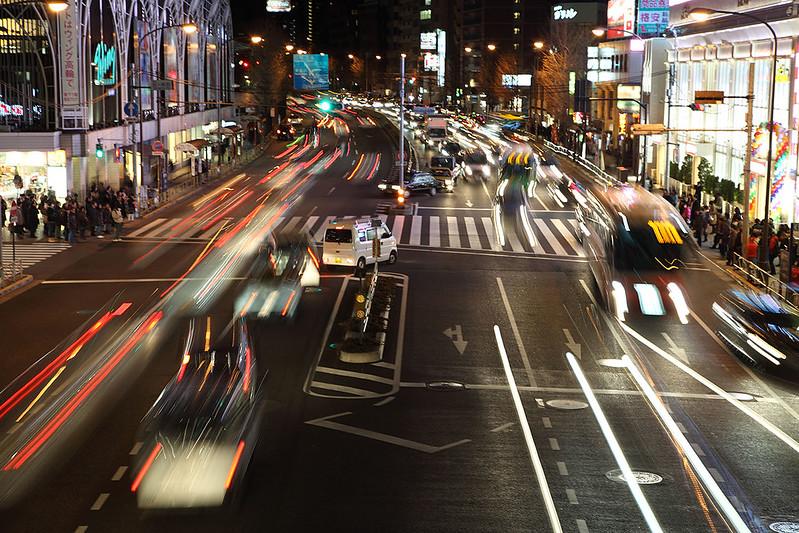 Shinagawa crossing blur