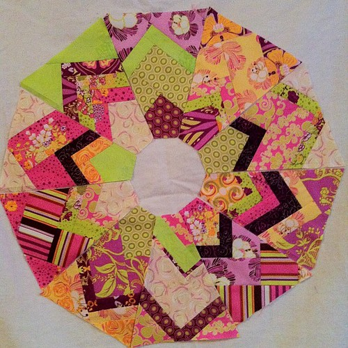 Wedge blocks by Scrappy quilts