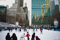 ice skating in Bryant Park Citi Pond