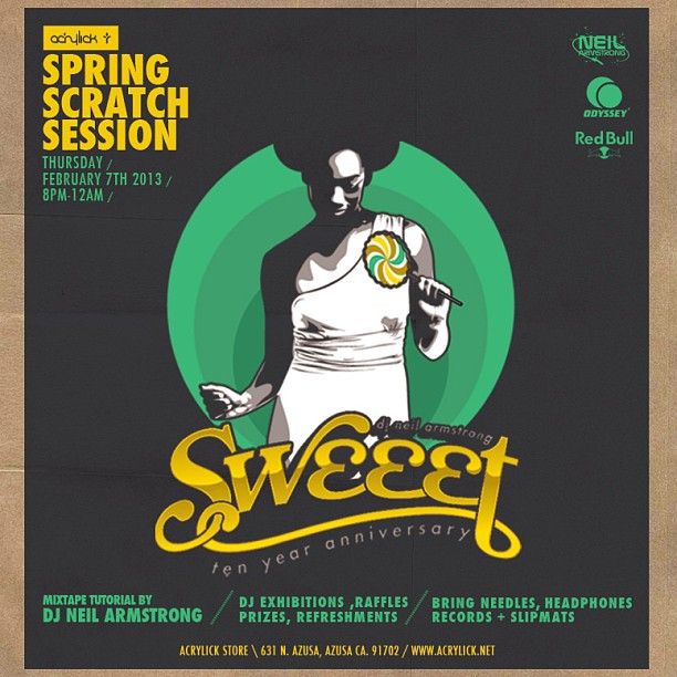 The Spring Scratch Session at Acrylick - Sweeet 10 Yr anniversary Edition