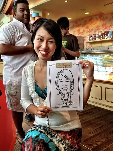caricature live sketching for Au Chocolat Opening - Day 2 - 3