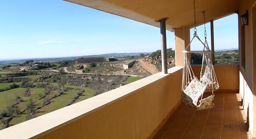 Apartament El Cel: Terrassa amb 2 hamaques