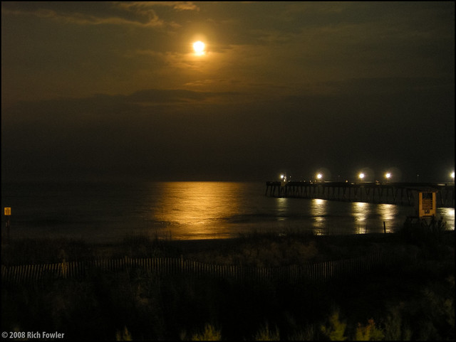 Moon Over Wrightsville Beach