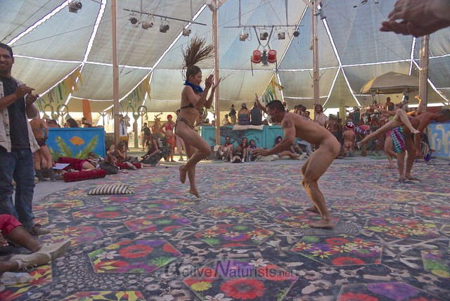 naturist capoeira 0076 Burning Man 2012, Black Rock City, NV, USA