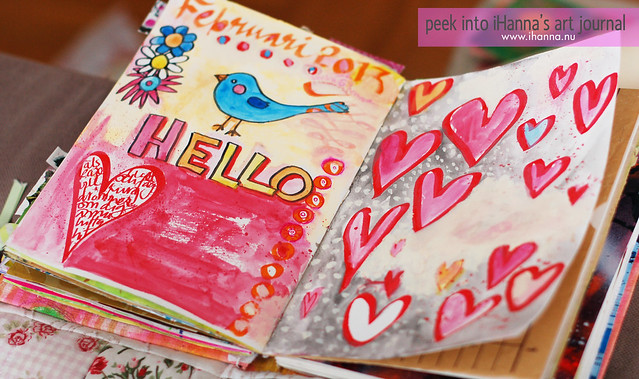 Art Journaling 2013: Hello Sweetheart