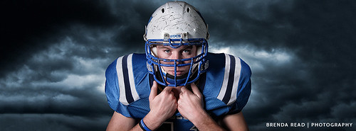 High School Football Portrait by: Brenda Read by Brenda Read Photography