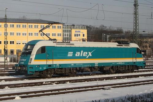 ALEX class 183 electric locomotive 183 005 at Regensburg Hbf