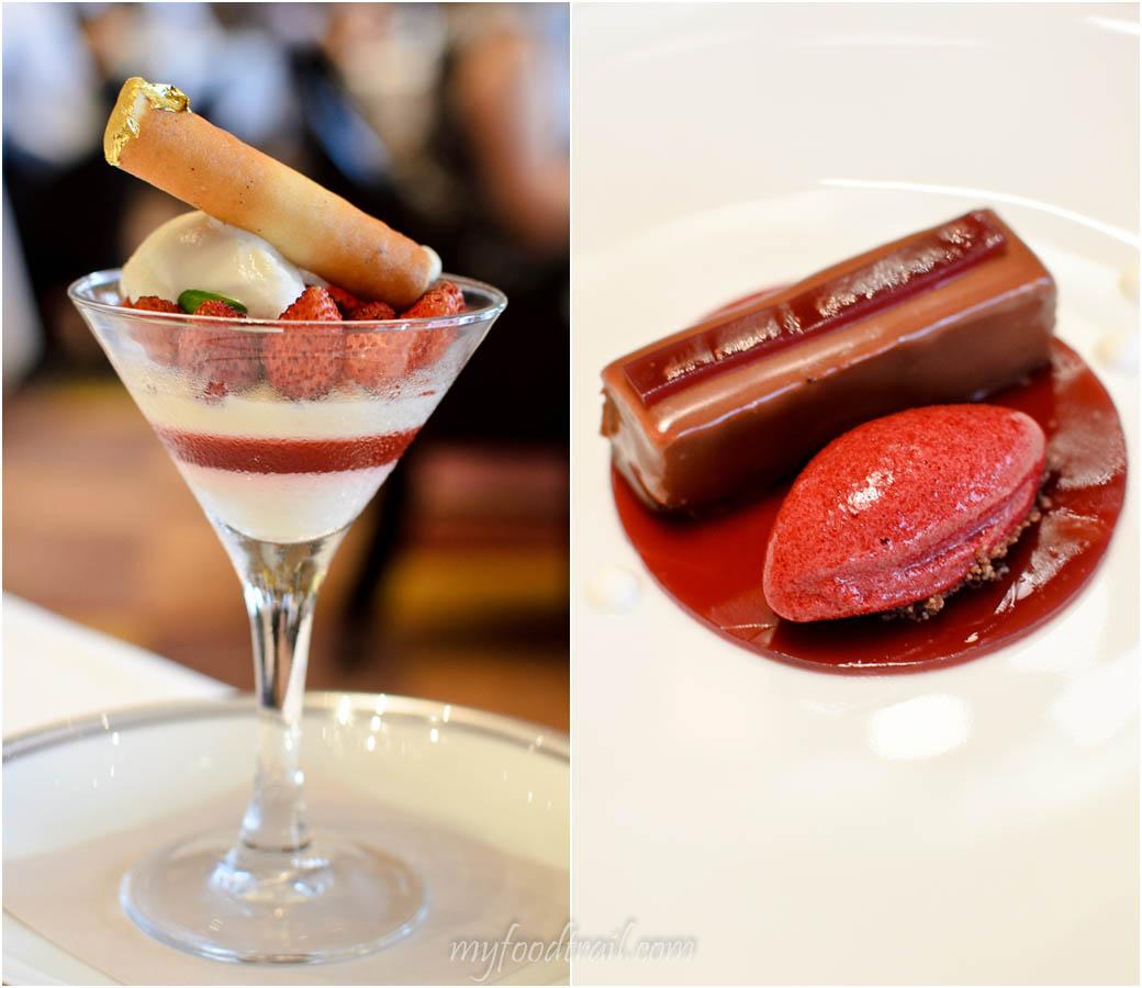 Amber Restaurant, Hong Kong - Tasting desserts to share