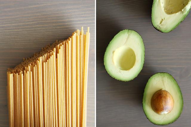 pasta + avocado