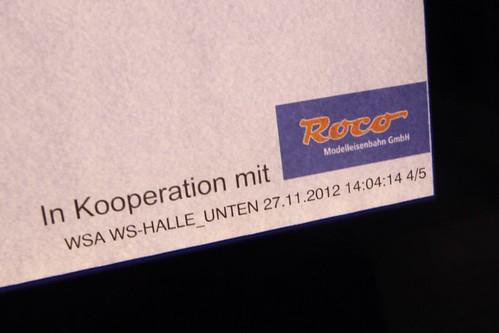 'In Kooperation mit Roco Modelleisenbahn GmbH'