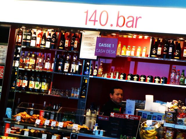 Bar at CDG airport