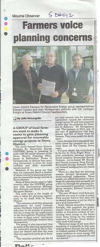 Lecale farmers concerned at refusal of planning manger to meet 5th Dec 2012 by CadoganEnright