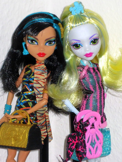 Monster High LAGOONA BLUE & CLEO DE NILE ♥ Scaris ♥ City of Frights ♥ TRU Exclusive Dolls