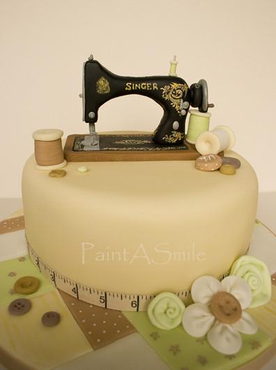 Cake Design For Singer : Singer Sewing Machine cake Flickr - Photo Sharing!