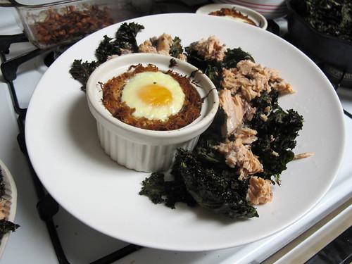 """Egg and """"Hasbrowns"""" Breakfast for Dinner"""